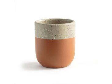 Cache-pot céramique bicolore, Kera LA REDOUTE INTERIEURS Terracotta