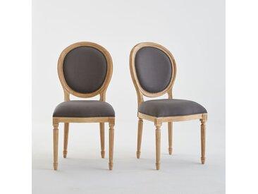 Lot de 2 chaises médaillon Louis XVI, Nottingham LA REDOUTE INTERIEURS Gris