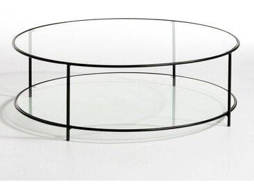 Table basse ronde verre trempé, Sybil AM.PM Noir