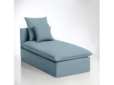Méridienne déhoussable bachette pur coton, Nélia LA REDOUTE INTERIEURS Bleu Clair