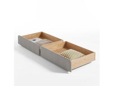 Tiroirs de rangement pour le lit ELORI (lot de 2) LA REDOUTE INTERIEURS Gris