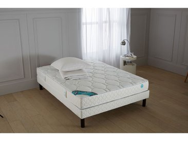 Matelas latex grand confort ferme 3 zones, 19 cmMERINOSBlanc/Bleu