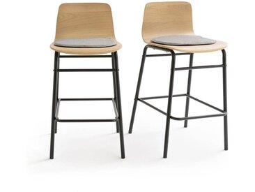 Lot de 2 chaises de bar mi-hauteur, Blutante LA REDOUTE INTERIEURS Chêne
