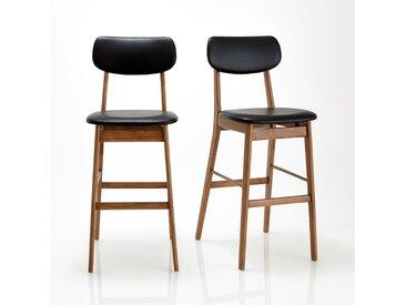 Chaise de bar, lot de 2, Watford LA REDOUTE INTERIEURS Noyer / Noir