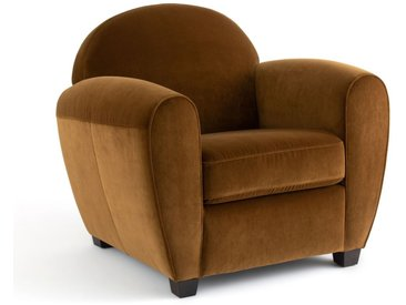 Fauteuil Club velours, Barnaby AM.PM Bronze