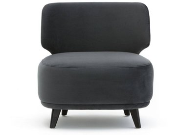 Chauffeuse velours XL, Odalie, design E. Gallina AM.PM Gris Anthracite
