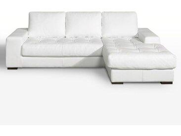 Canapé d'angle fixe confort excellence cuir Arlon LA REDOUTE INTERIEURS Blanc