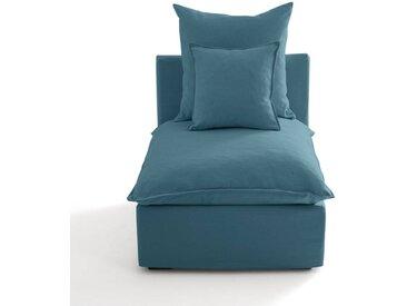 Chauffeuse déhoussable coton/lin, Nélia LA REDOUTE INTERIEURS Bleu Paon