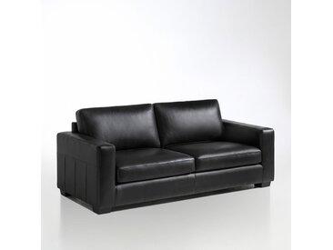 Canapé cuir 2 ou 3 places, Ysella LA REDOUTE INTERIEURS Noir