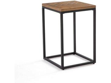 Bout de canapé métal et bois, H60 cm, Nottingham LA REDOUTE INTERIEURS Pin Ciré