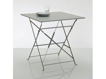 Table pliante carrée, métal Ozevan LA REDOUTE INTERIEURS Gris