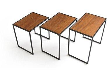 Lot de 3 tables basses gigognes, Watford LA REDOUTE INTERIEURS Noyer