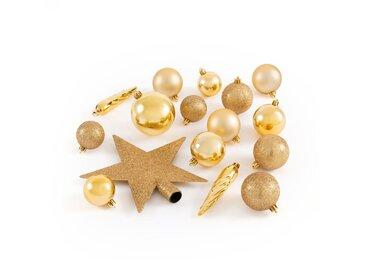 Coffret de 33 pièces de Noël dorées, Caspar LA REDOUTE INTERIEURS Or
