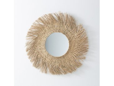 Miroir forme soleil en herbier, Loully LA REDOUTE INTERIEURS Naturel