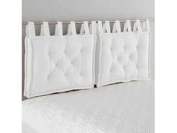 Tête de lit matelassée pur coton, Scenario LA REDOUTE INTERIEURS Blanc