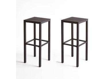 Lot de 2 tabourets de bar en métal perforé, Choe LA REDOUTE INTERIEURS Noir Mat
