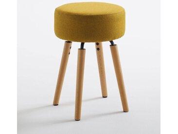 Tabouret design, rembourré, Asting LA REDOUTE INTERIEURS Jaune Moutarde