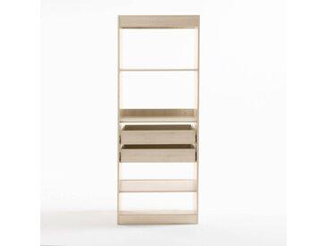 Module dressing, 3 tablettes et 2 tiroirs Build LA REDOUTE INTERIEURS Chêne Clair