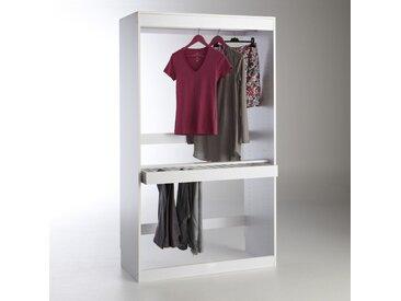 Module dressing, penderie + porte pantalons, Build LA REDOUTE INTERIEURS Blanc