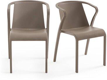 Lot de 2 fauteuils en polypropylène, Predsida LA REDOUTE INTERIEURS Taupe