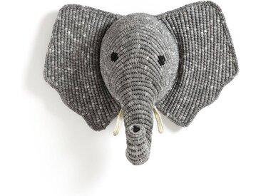 Trophée mural éléphant, Lapilli AM.PM Gris