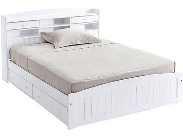 Lit avec tête de lit, pin massif, Grimsby LA REDOUTE INTERIEURS Blanc