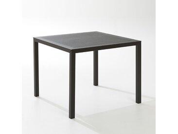 Table de jardin carrée, métal perforé, Choe LA REDOUTE INTERIEURS Noir