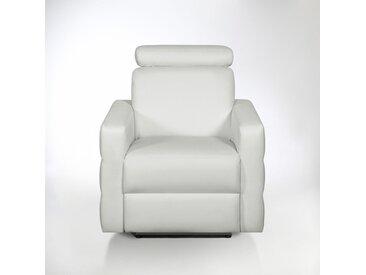 Fauteuil de relaxation électrique cuir, Hyriel LA REDOUTE INTERIEURS Blanc