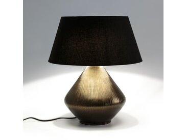 Lampe à poser métal gravé, Lotka AM.PM Bronze Vieilli