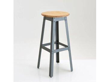 Tabouret style industriel, haut. 75 cm, Hiba LA REDOUTE INTERIEURS Gris