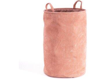 Panier à linge, Veloudo LA REDOUTE INTERIEURS Rose Nude