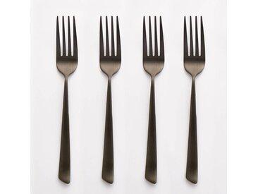 Lot de 4 fourchettes inox, Sarubbo AM.PM Noir Mat
