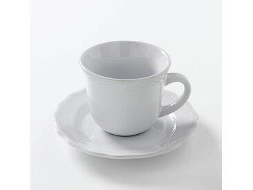 Lot 4 tasses + sous-tasses, AJILA LA REDOUTE INTERIEURS Blanc