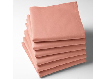 Serviettes de table unies coton, Scenario LA REDOUTE INTERIEURS Rose Blush