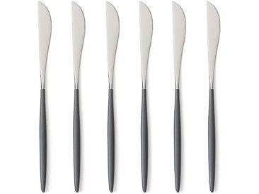 Lot de 6 couteaux inox Barbule AM.PM Gris Inox