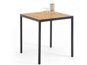 Table de bistrot chêne et métal, Nova LA REDOUTE INTERIEURS Chêne