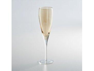 Lot 4 flûtes à champagne, KOUTINE LA REDOUTE INTERIEURS Ambre
