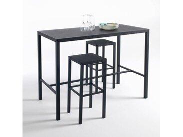 Table haute mange-debout métal perforé, Choe LA REDOUTE INTERIEURS Noir Mat