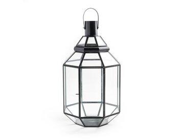 Lanterne verre et métal Dipavali AM.PM Noir
