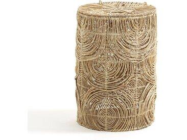 Panier à linge H60 cm abaca tressé, Orphée AM.PM Naturel
