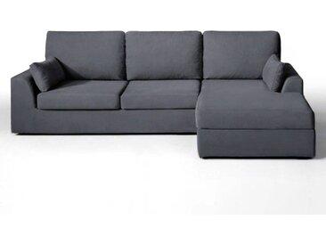 Canapé d'angle fixe excellence coton demi-natté LA REDOUTE INTERIEURS Gris Anthracite