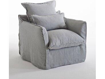Fauteuil en lin confort bultex, Odna LA REDOUTE INTERIEURS Gris Clair