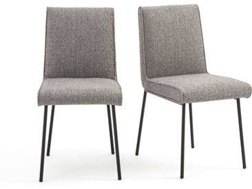 Lot de 2 chaises rembourrées en tissu, Rafa LA REDOUTE INTERIEURS Gris