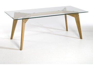 Table rectangulaire, Kristal, verre et chêne AM.PM Chêne Naturel