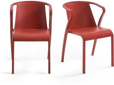 Lot de 2 fauteuils en polypropylène, Predsida LA REDOUTE INTERIEURS Brique
