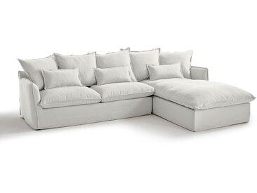 Canapé d'angle fixe en coton/lin, Odna Bultex LA REDOUTE INTERIEURS Blanc