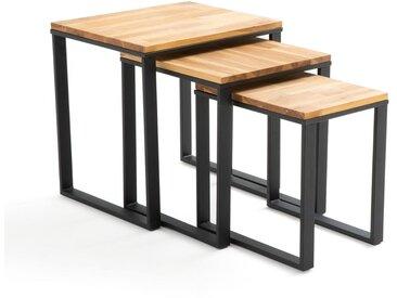 Lot de 3 tables basses gigognes, Hiba LA REDOUTE INTERIEURS Naturel