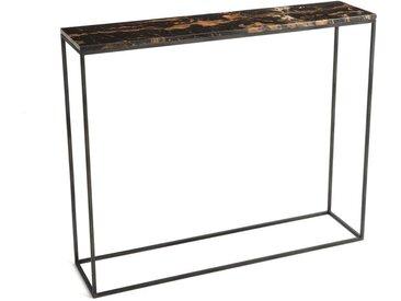 Console marbre ambré/métal L90 cm, Ambrette AM.PM Marbre Ambré