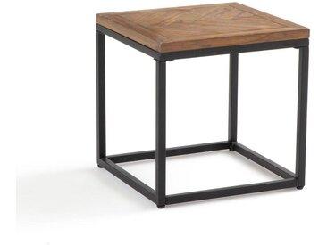 Bout de canapé métal et bois, H40 cm, Nottingham LA REDOUTE INTERIEURS Pin Ciré