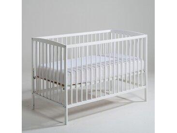 Lit bébé à sommier modulable 2 hauteurs, Tellie LA REDOUTE INTERIEURS Blanc Laque